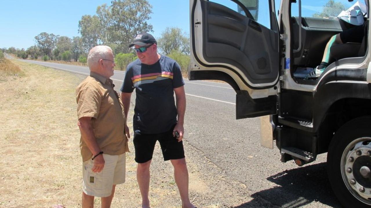 Svend on his trip around Australia.