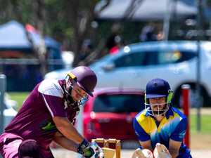 Cricket action from One Mile Ovals