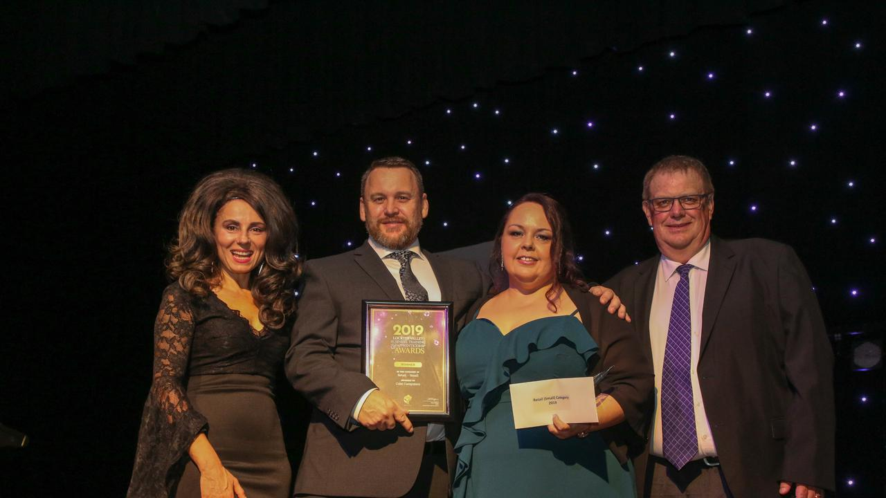 Retail – Small award winners Cube Computers at the 2019 Lockyer Valley Business, Training and Apprenticeship Awards
