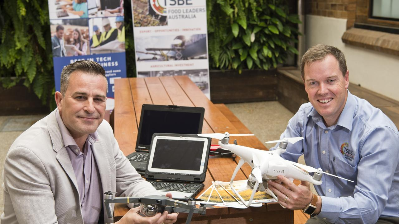 Harvey Norman Commercial director Gus Romero (left) and TSBE Food Leaders Australia general manager Bruce McConnel promote the upcoming 400M Agrifood Innovation Forum. Picture: Kevin Farmer