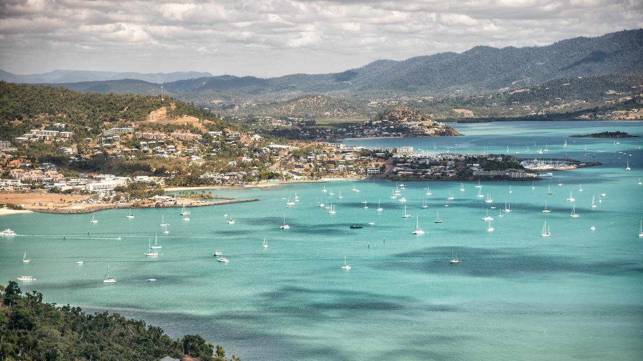 Aerial view of Airlie Beach coastline on beautiful Queensland, Australia. Picture: iStock