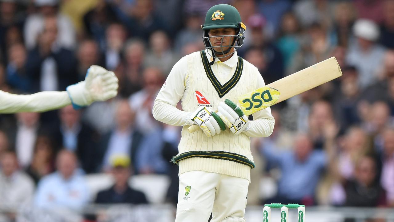 Usman Khawaja was dropped after the third Ashes Test. Picture: Getty Images