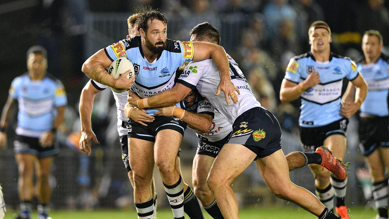 The Cronulla Sharks will tackle the North Queensland Cowboys under the new lights at Sunshine Coast Stadium in Round 10 of the NRL season. Photo: Gregg Porteous