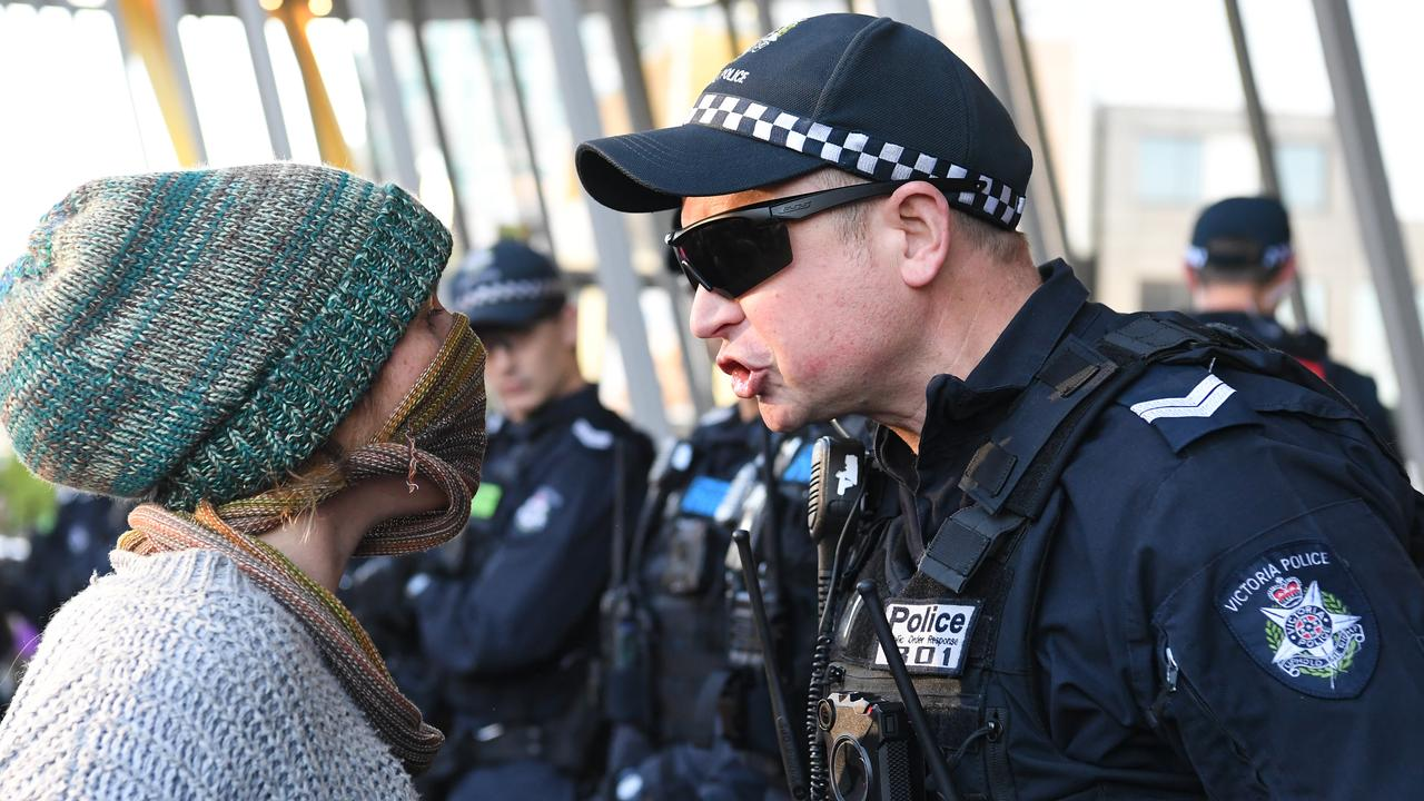 Tensions escalated. Picture: James Ross/AAP
