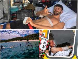 Shark victims speak from hospital bed