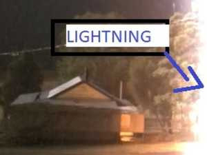 'Sh- scared!' moment lightning hits Gympie region property