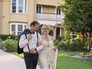 Wedding also celebrates couple's love for Heritage City