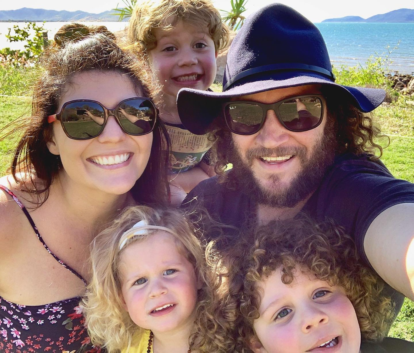 Matthew Barker and his family.