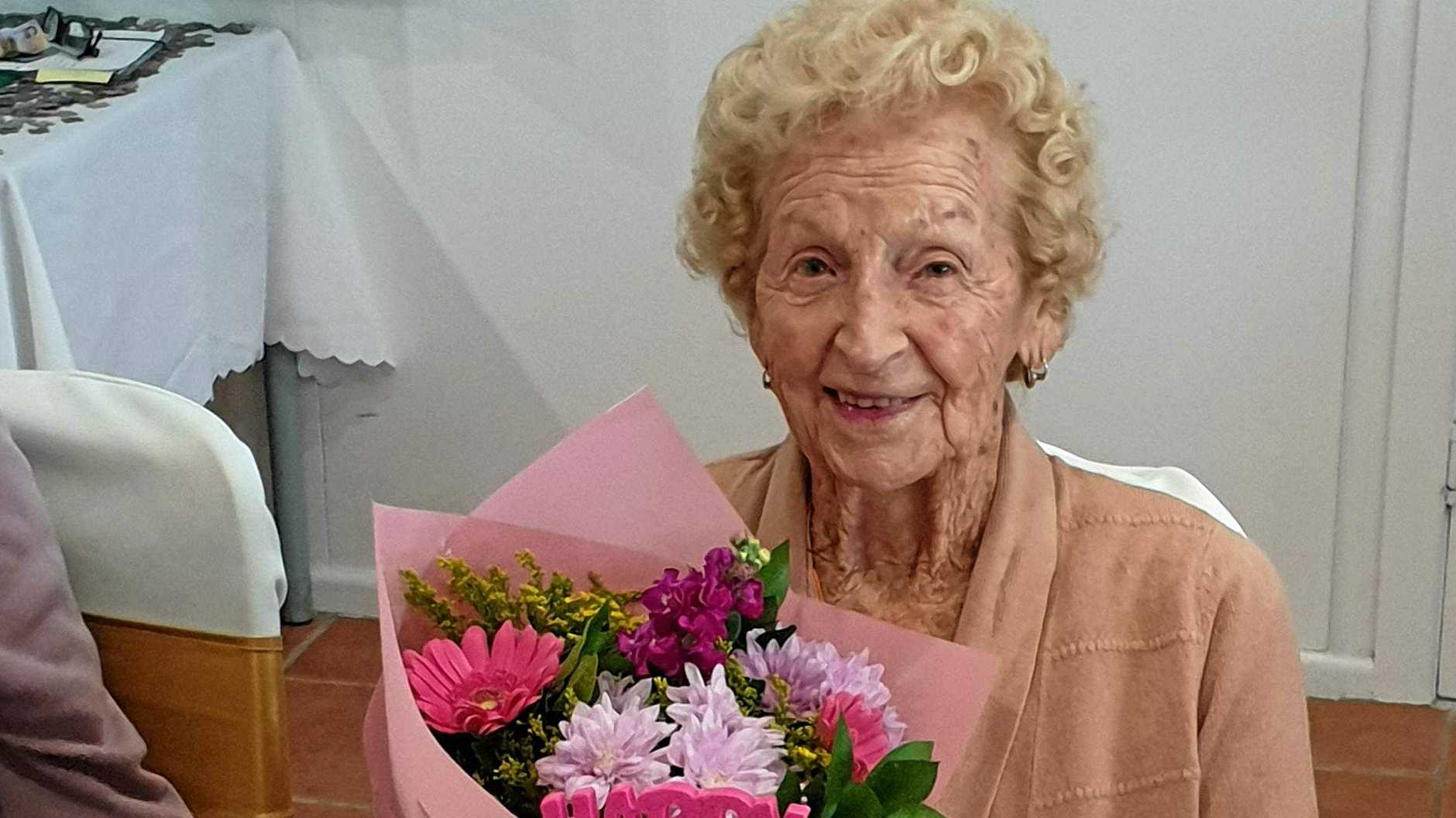 Elma May Wilkinson, born in Coraki NSW 100 years ago, celebrated her birthday recently with friends at Nerang's Liberty Community Connect Inc.
