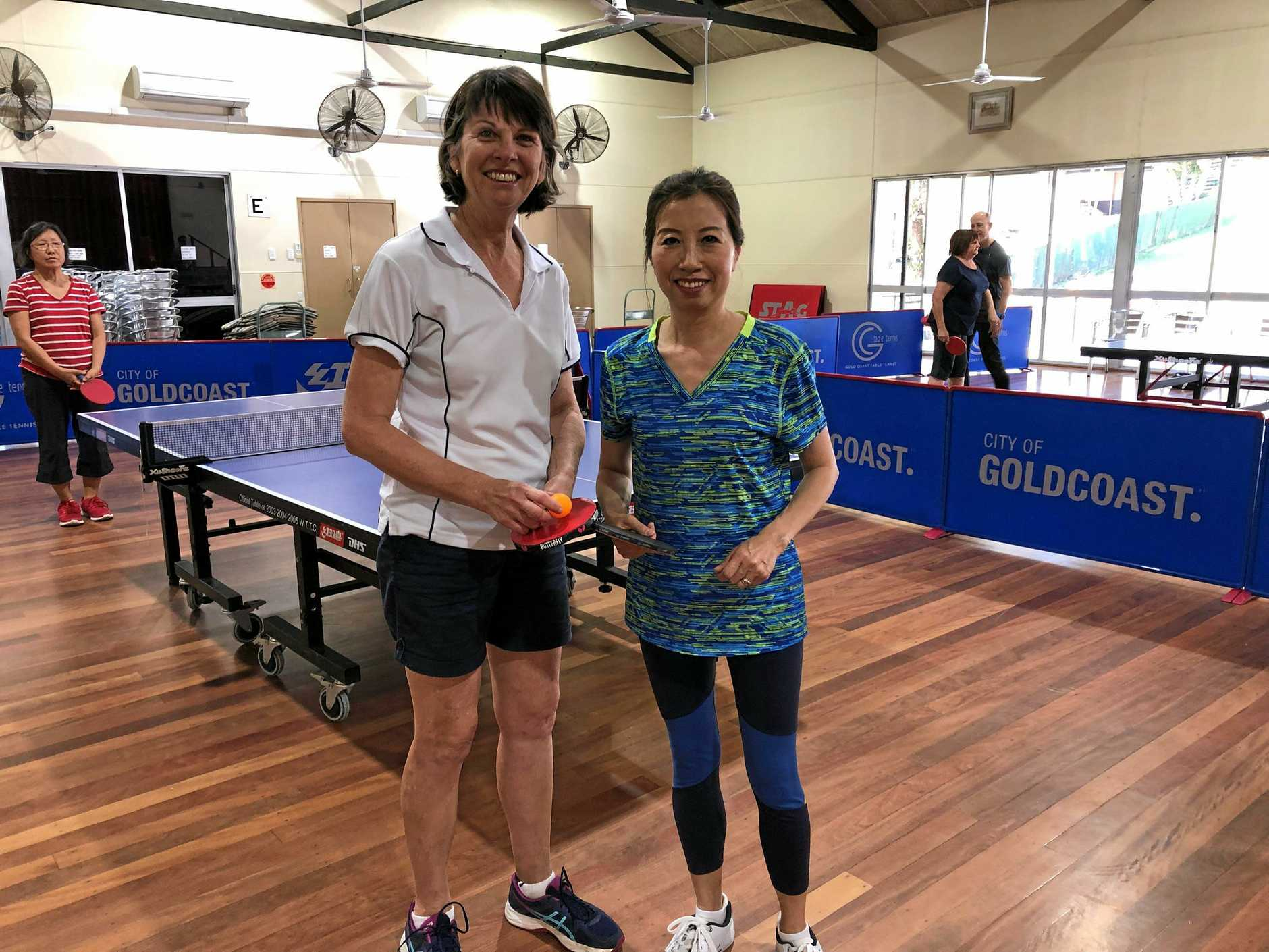 Table Tennis Instructors Hailo and Debbie we welcome you to the Burleigh/Miami Senior Citizens Club located at 40 Matilda St. Burleigh.