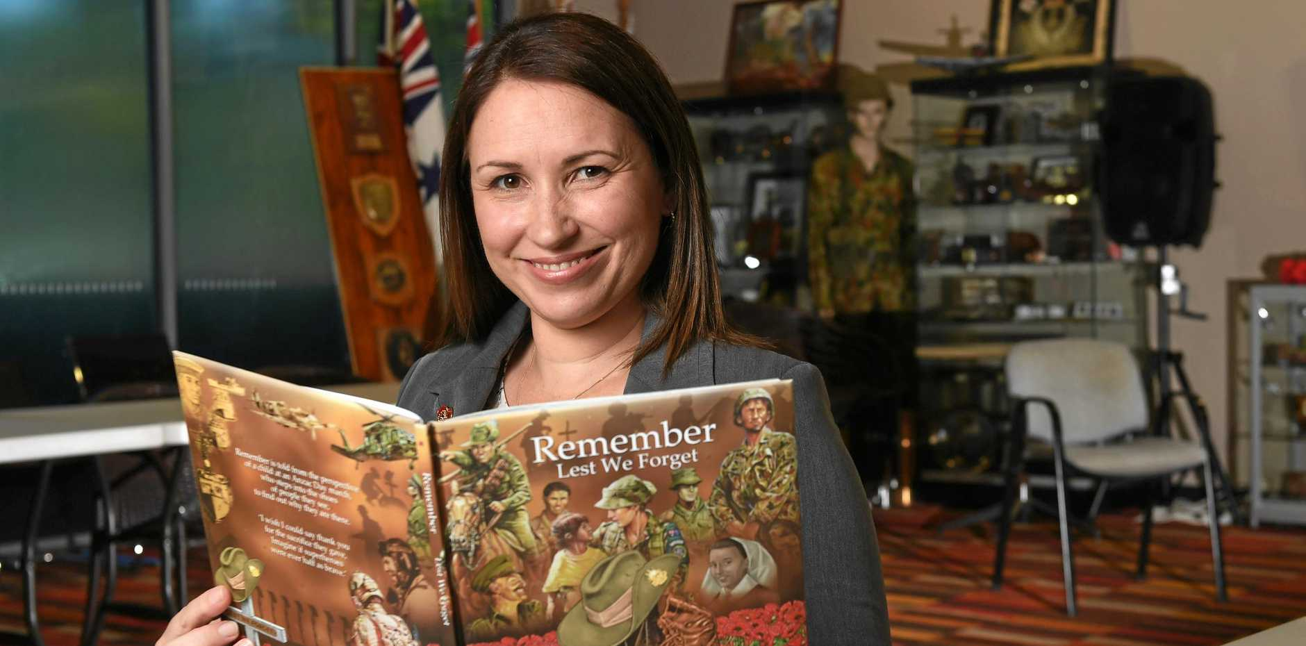 SAME PAGE: Julie Miller will donate all the proceeds from the sales of her book, Remember, to the RSL. She will launch her first book in Goodna today.