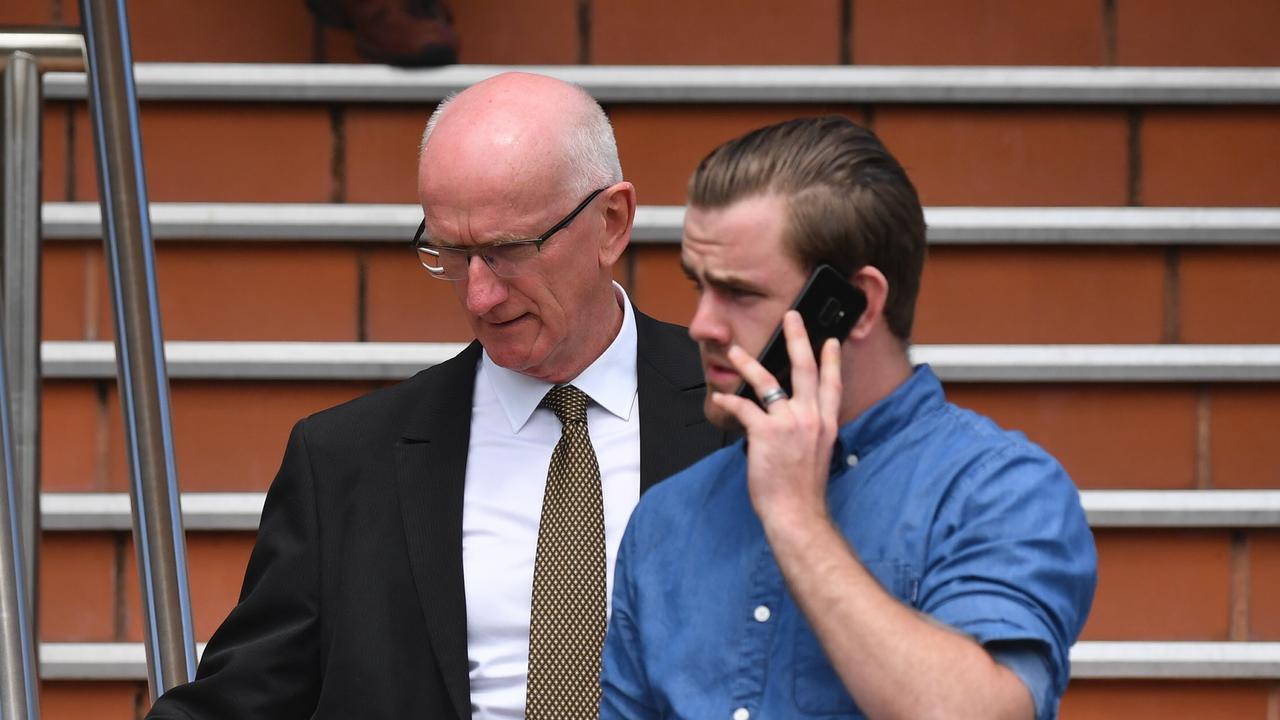 Chris Loft and son Jason Loft leaving the Hervey Bay Court house.