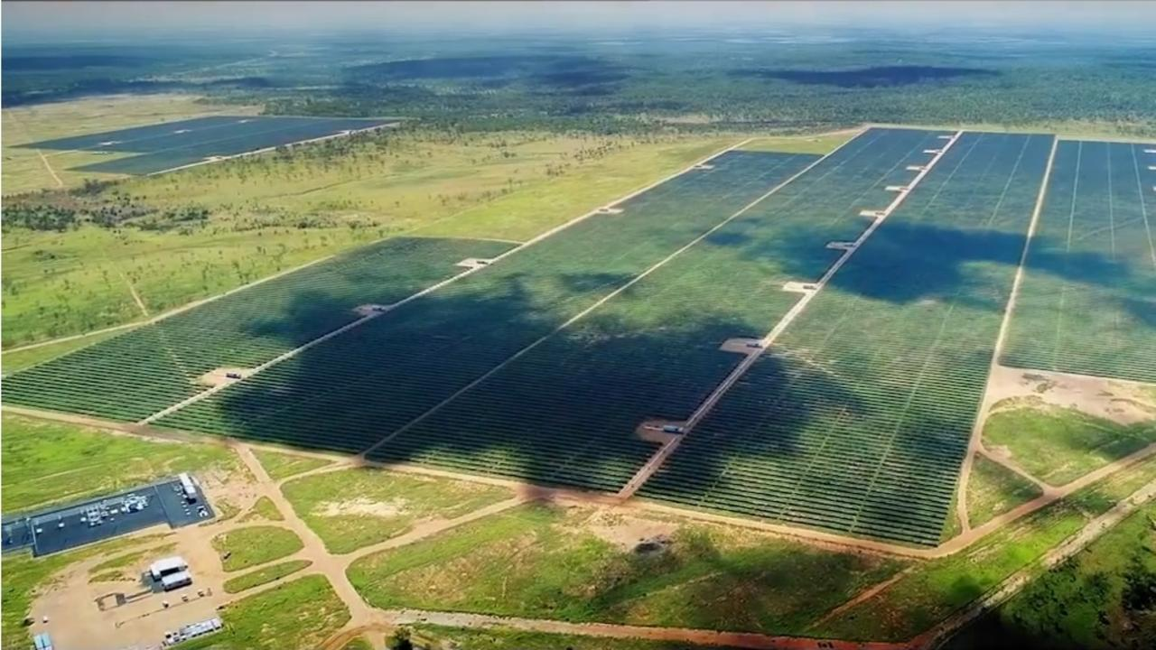 AERIAL VIEW: There's plenty of room for Adani Australia to expand their new Rugby Run solar farm near Moranbah.
