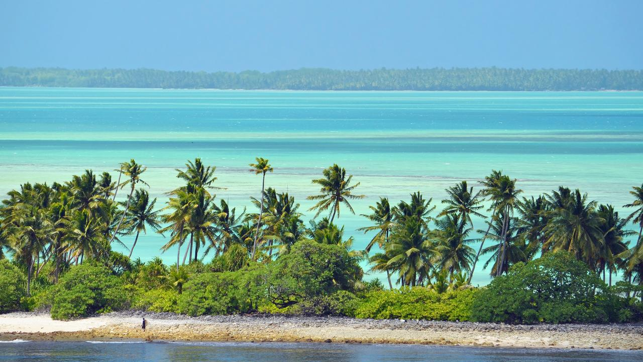 The 60 Minutes crew travelled to Kiribati on Monday.