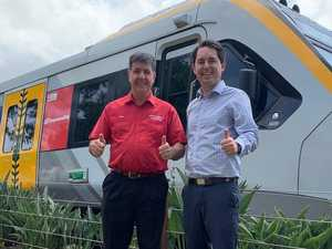 First NGR train rolls into Maryborough for upgrade