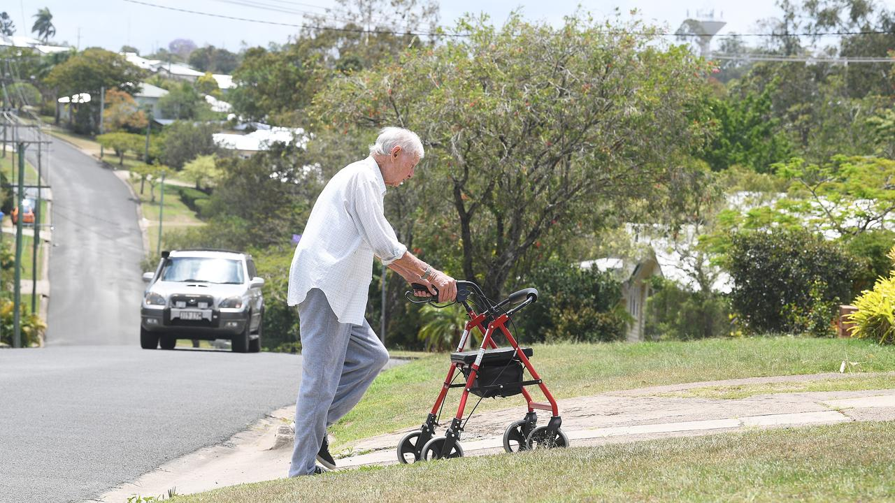 Gympie Resident Jack Murray needs a footpath so he can safely walk around and doesn't have to continue to walk on the road.