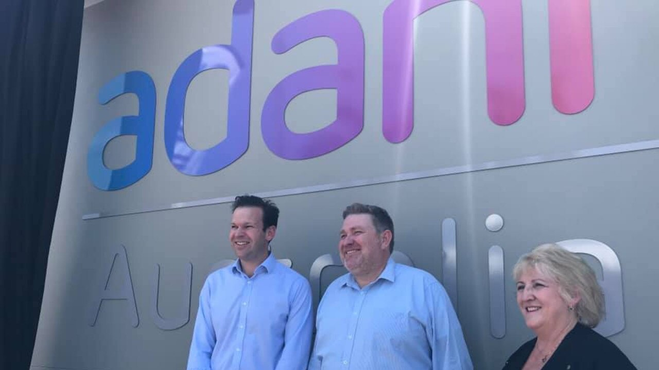 SPREADING WINGS: Resources Minister Matt Canavan, Adani Mining chief executive Lucas Dow, Capricornia MP Michelle Landry at the opening of Adani's new Rockhampton office.
