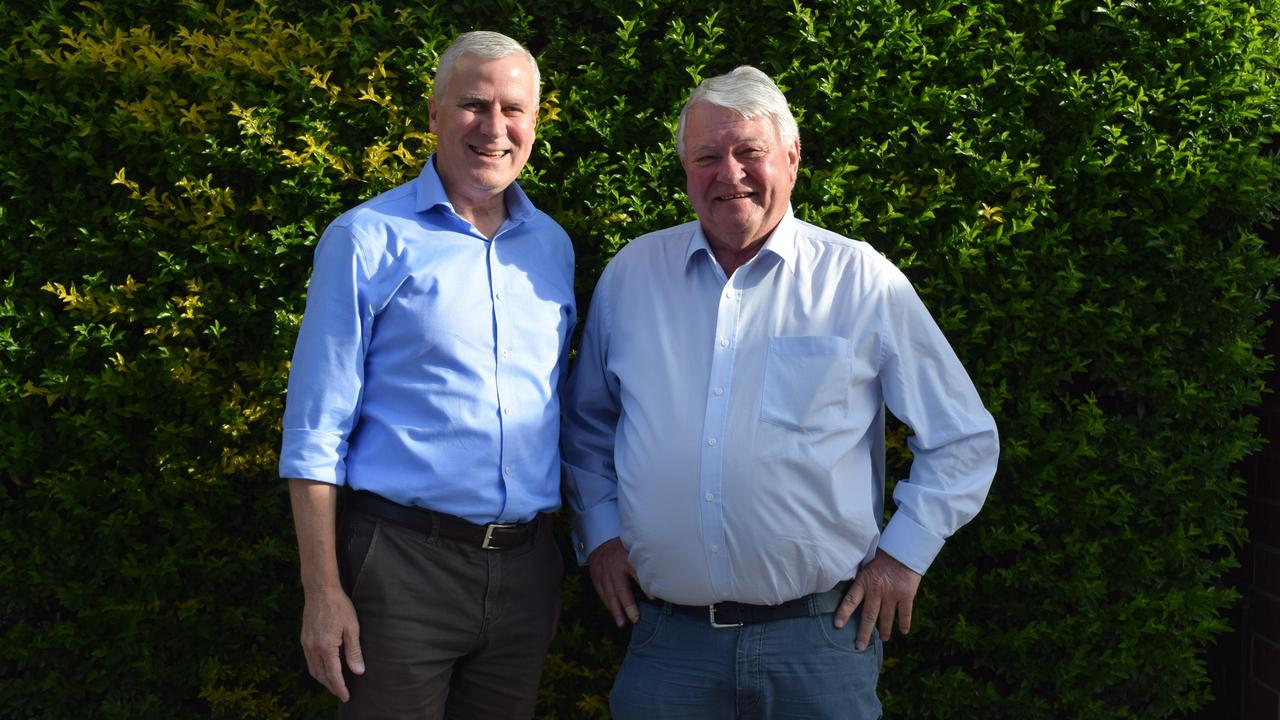 NEW FUNDS: Acting Prime Minister Michael McCormack and Member for Flynn Ken O'Dowd who announced that the money will help regional communities being affected by the drought.