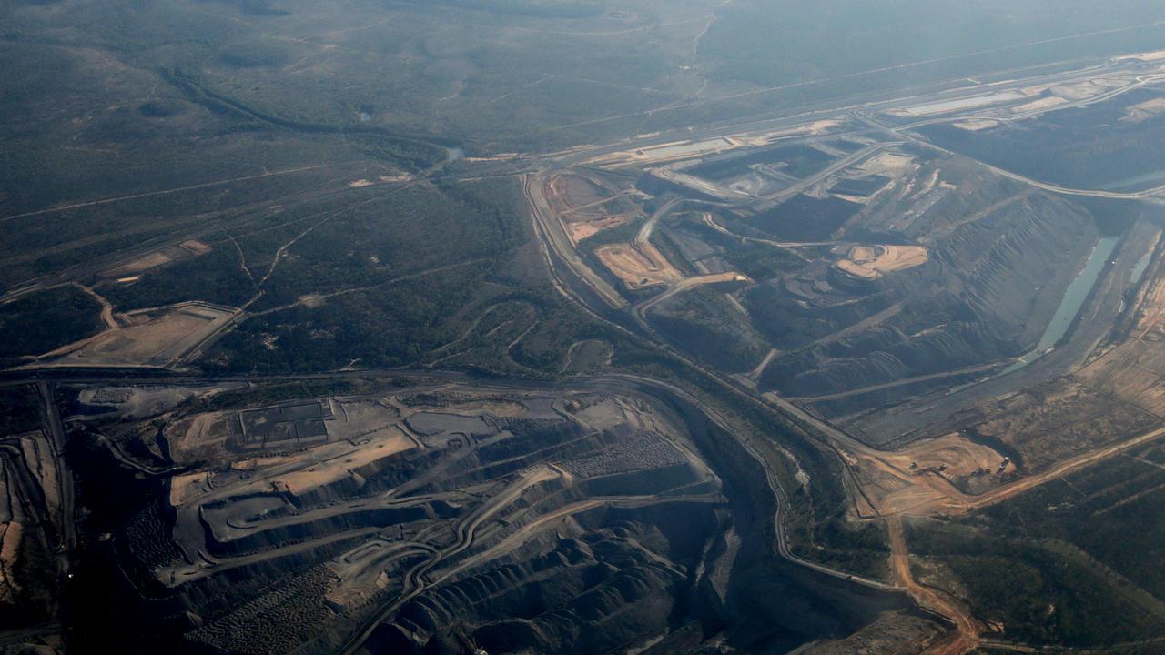 Coal mines dominate the Bowen Basin in Queensland.
