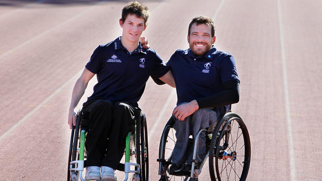 Back in the day. A young Rheed McCracken with Kurt Fearnley back in 2012.
