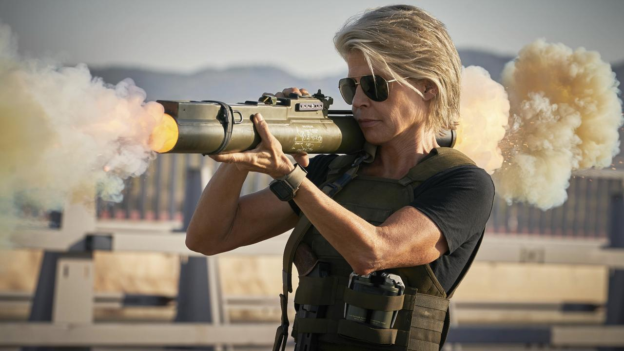 Linda Hamilton returns in Terminator: Dark Fate.