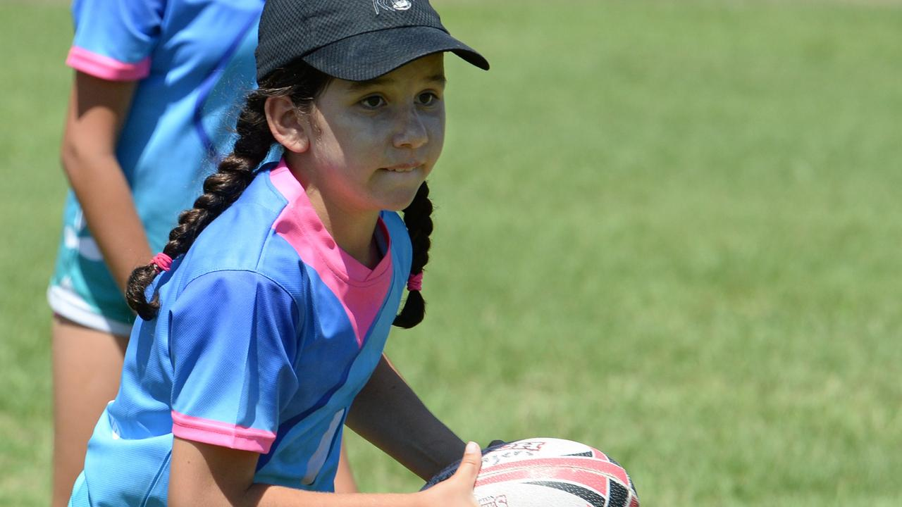 FLASHBACK: Demi Sandilands makes a run in the Rocky Crushers U10 girls touch football team at the Red Rooster Junior Carnival in 2017.