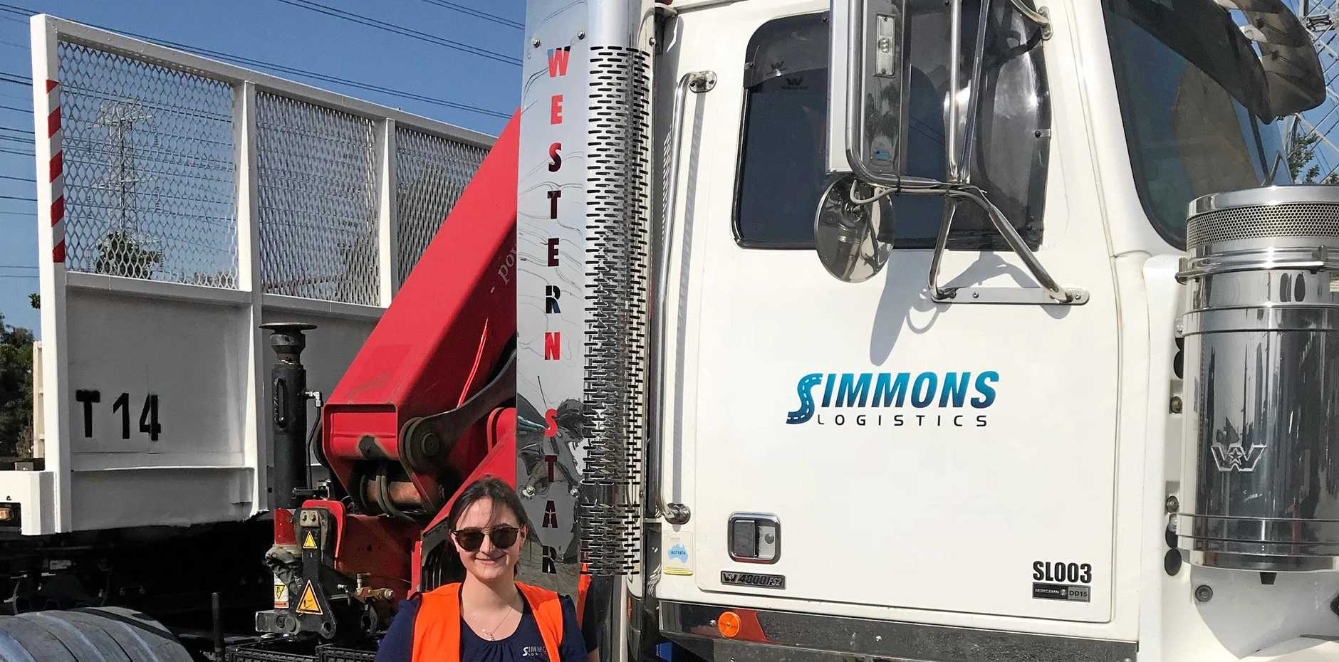 GREAT OPPORTUNITY: Georgia Easton hasn't looked back since joining the team at Simmons Logistics in Queensland.