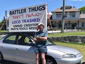 Rattler protest leaves Mary Valley shop owner in tears