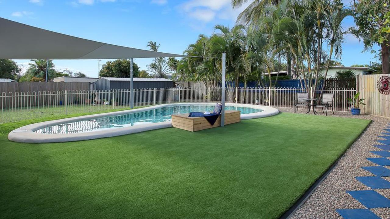 The large inground pool at 24 Dalrymple Street, East Mackay.