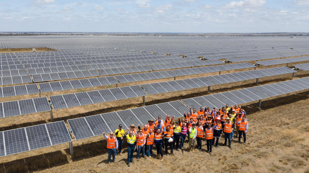 OFFICIALLY OPEN: Adani's Rugby Run solar farm near Moranbah