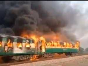 Dozens dead in horrific train fire