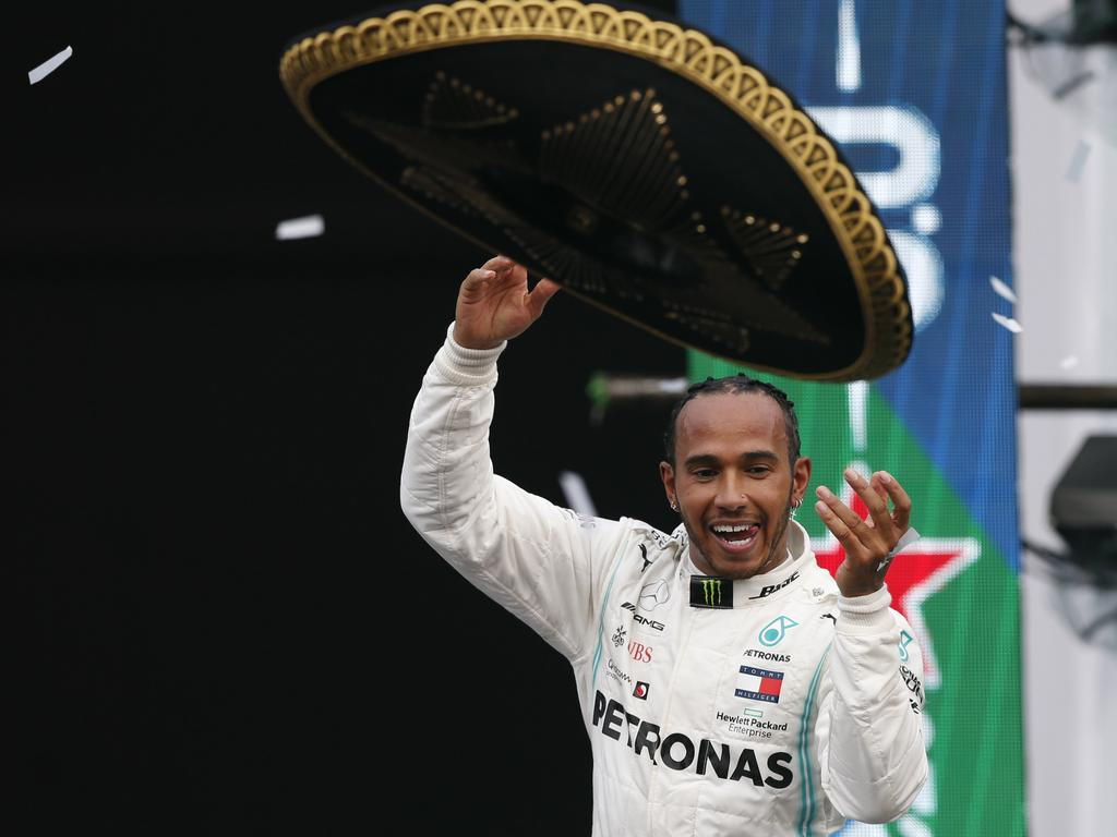 Lewis Hamilton crossed first in the Mexican GP on Monday.