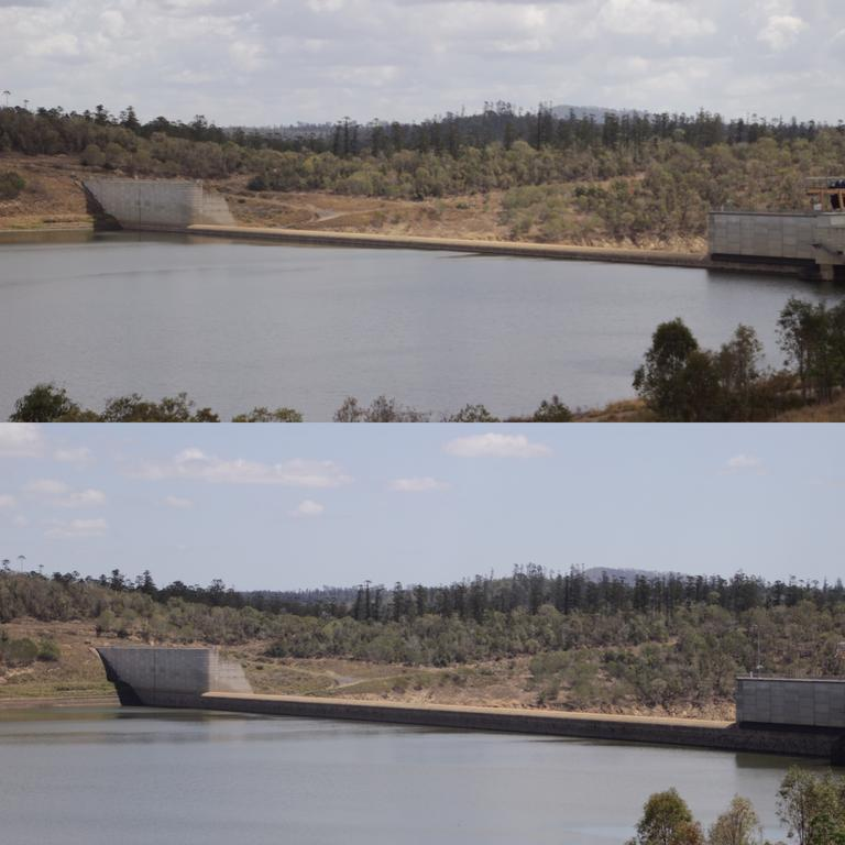The Paradise Dam near Bundaberg has been dropping steadily since the Palaszczuk Government started releasing 400 megalitres of water a day from late September due to safety concerns.