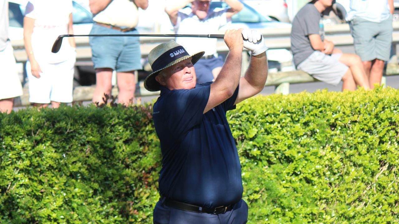 Golf great Peter Senior at the Gold Coast Senior PGA Championship. Picture: PGA AUSTRALIA