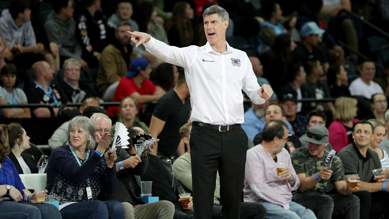 Head Coach Mike Kelly of the Taipans during NBL Round 5 match between New Zealand Breakers and Cairns Taipans at Spark Arena, Auckland, New Zealand, Thursday, October 31, 2019. (AAP Image/David Rowland)