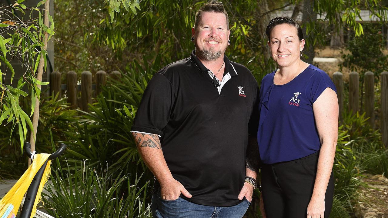 Ryan Montgomery and Julie Inskip from Act For Kids, based at Townsville's James Cook University. PICTURE: MATT TAYLOR.