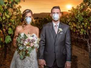 Couple's 'weird' wedding snap blasted