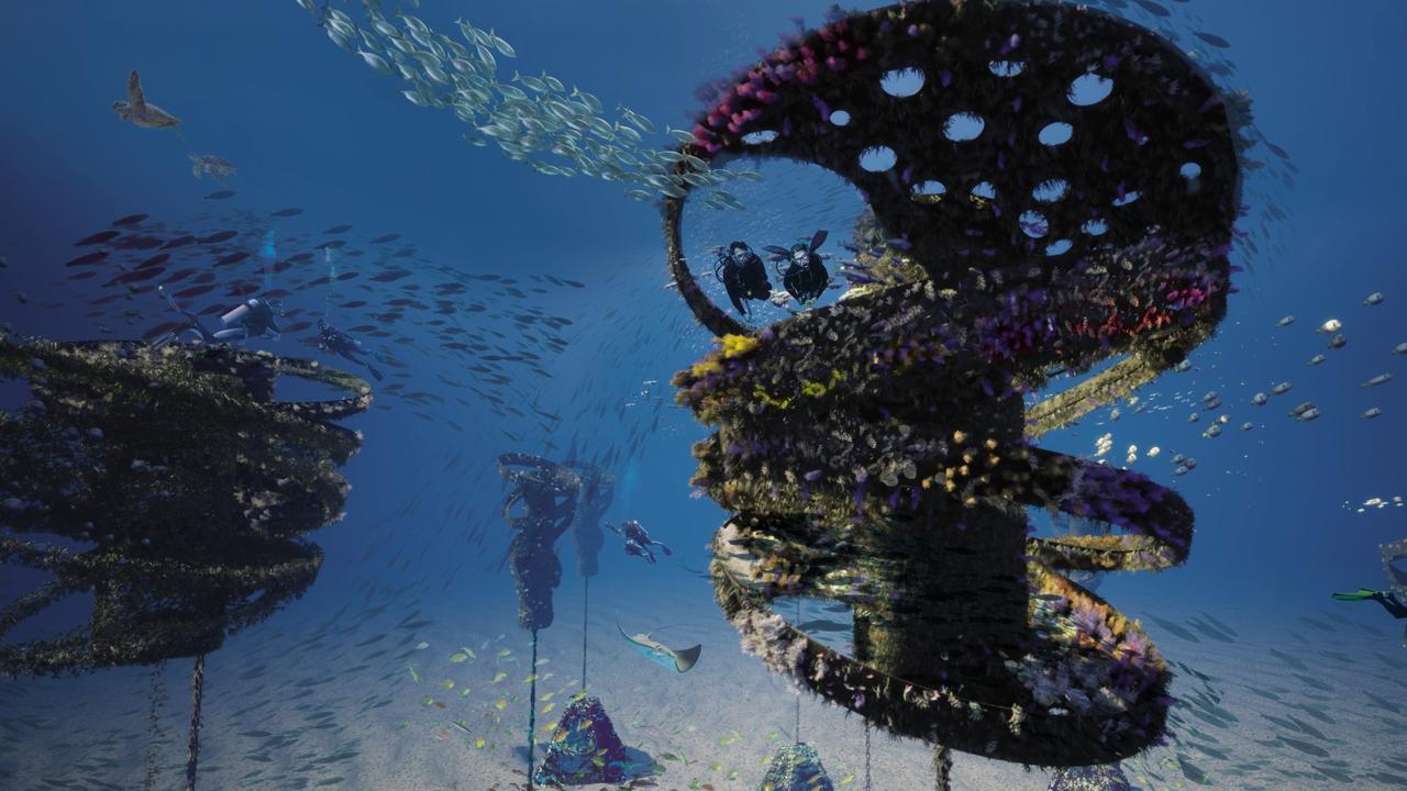 Concept for Gold Coast dive attraction. Picture: Gold Coast City Council.