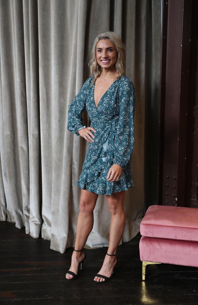 Lauren at the Bras and Things launch at Woolloomooloo, Sydney on Wednesday. Picture: Brett Costello