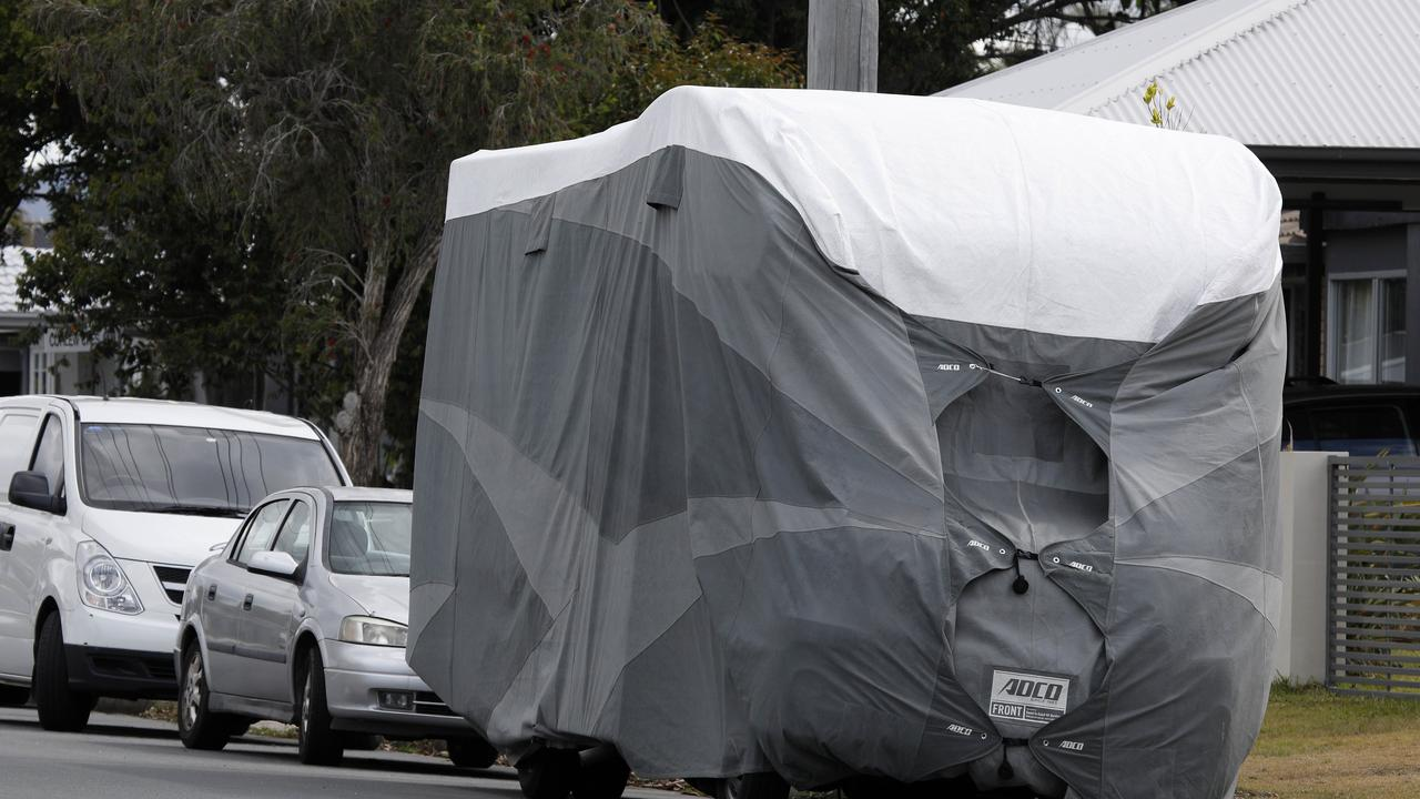 Caravans, trailers and boats are often seen scattered along the side of Gold Coast roads. Picture: Tertius Pickard
