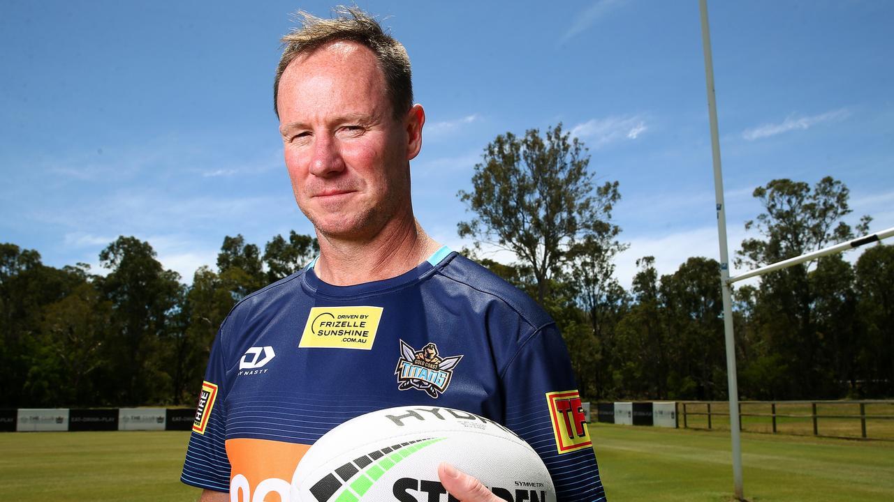 New Gold Coast Titans Head Coach Justin Holbrook speaks to the media. Pics Adam Head