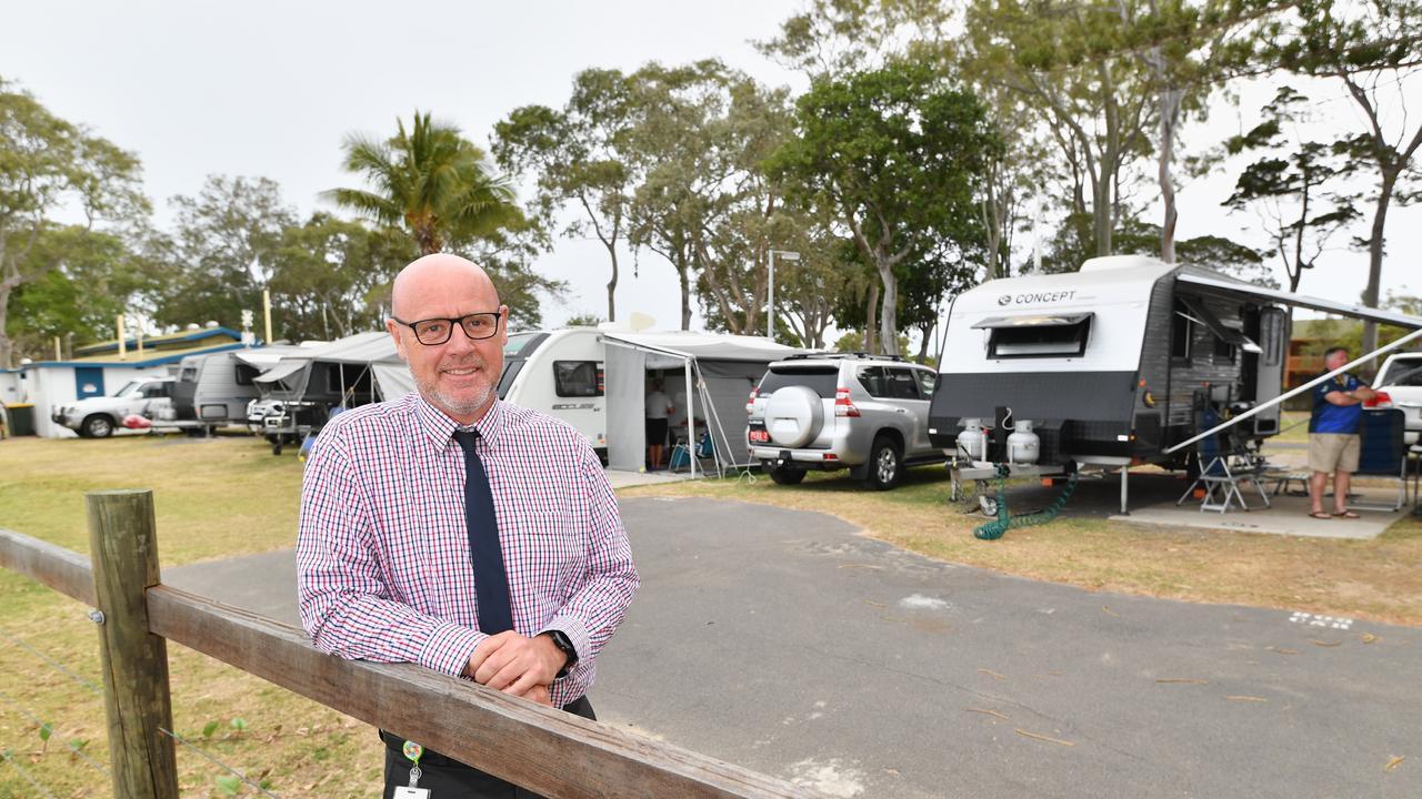 Deputy mayor Darren Everard at the Torquay Caravan Park.