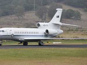 PHOTOS: Very special visitor flies into Lismore Airport