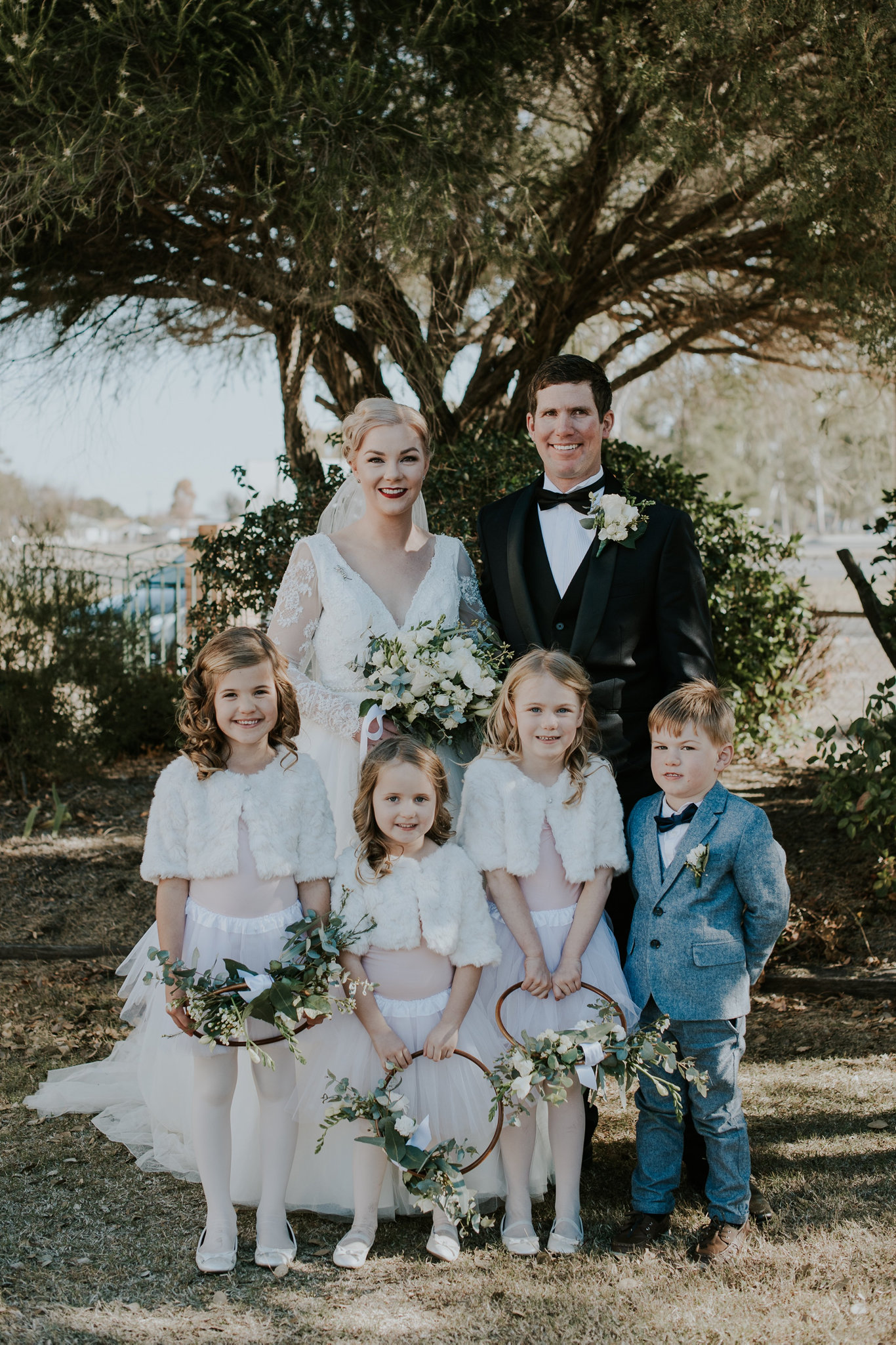 After 10 years together, Lydia Patterson and Trent Woods finally tied the knot at the heritage-listed St David's Anglican Church in Allora on July 20.