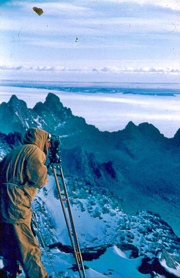 Syd Kirkby is recorded as having explored and mapped more of the Australian Antarctic Territory than anyone else.