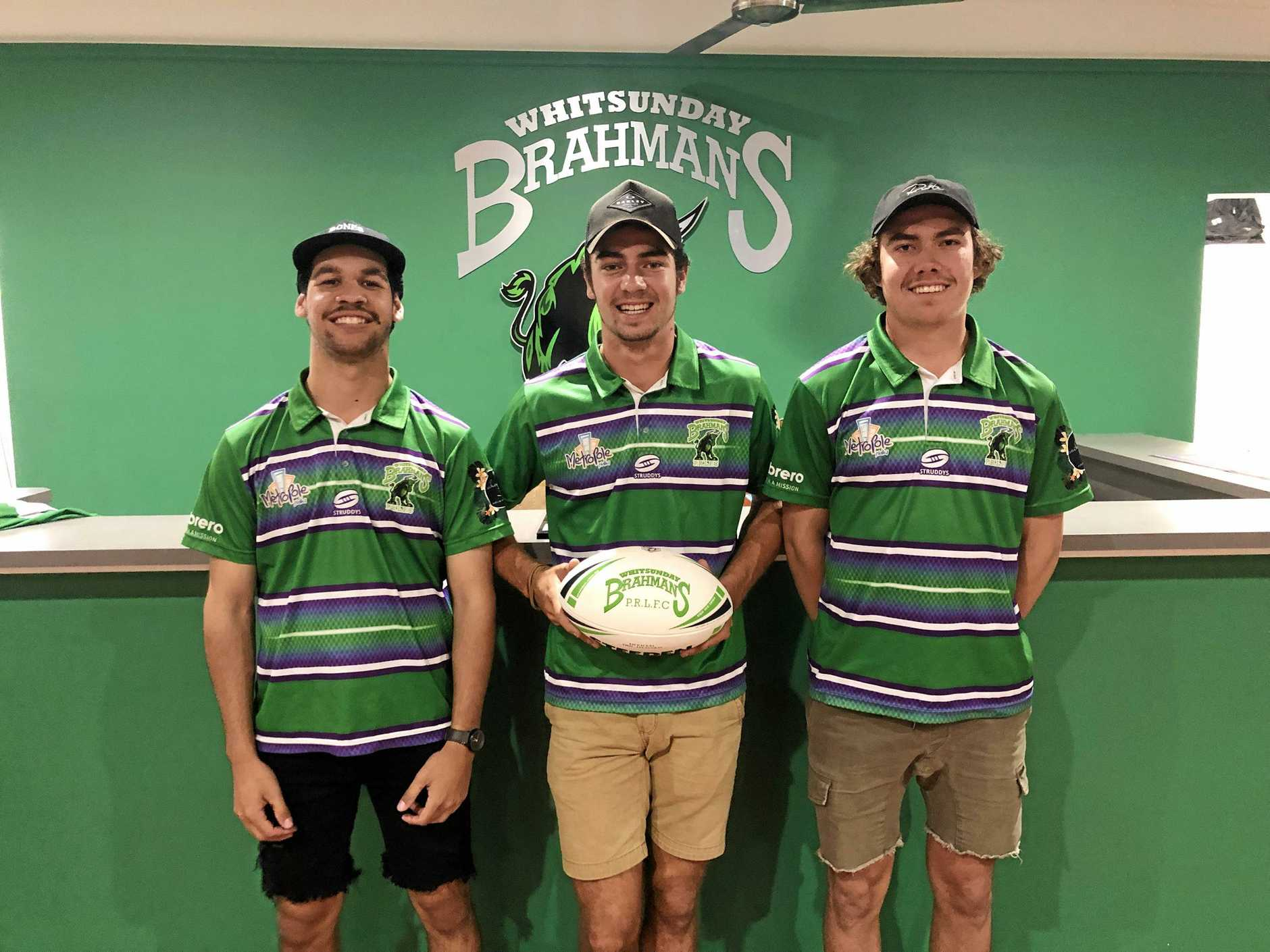 Whitsunday Brahmans U19's Ben Van Veen, Fletcher Turner and Campbell Cross have signed on with the 25-man A-grade squad ahead of the 2020 Mackay District Rugby League season.
