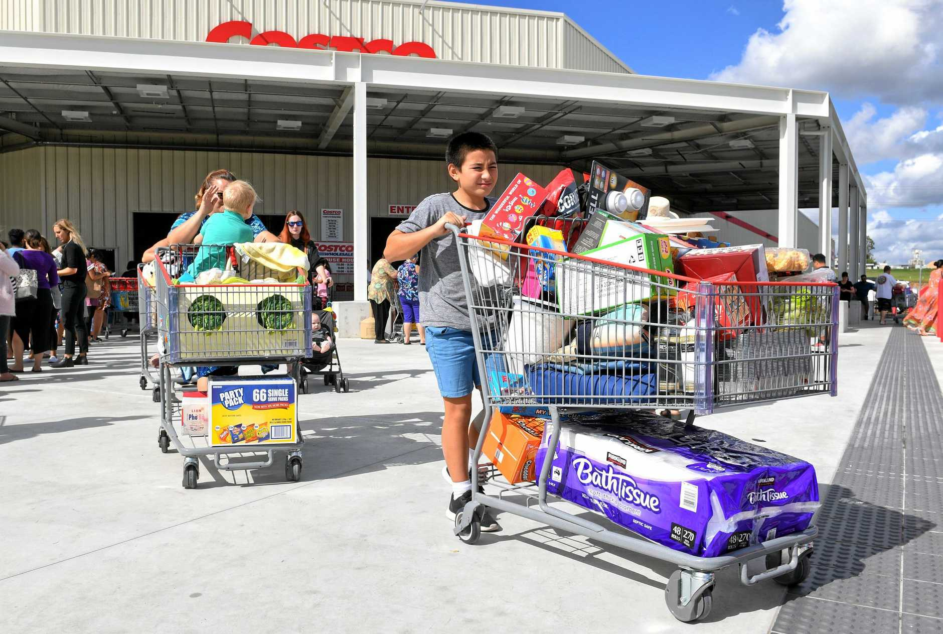 COSTCO CHAOS: It's been six months since the Bundamba store's grand opening.