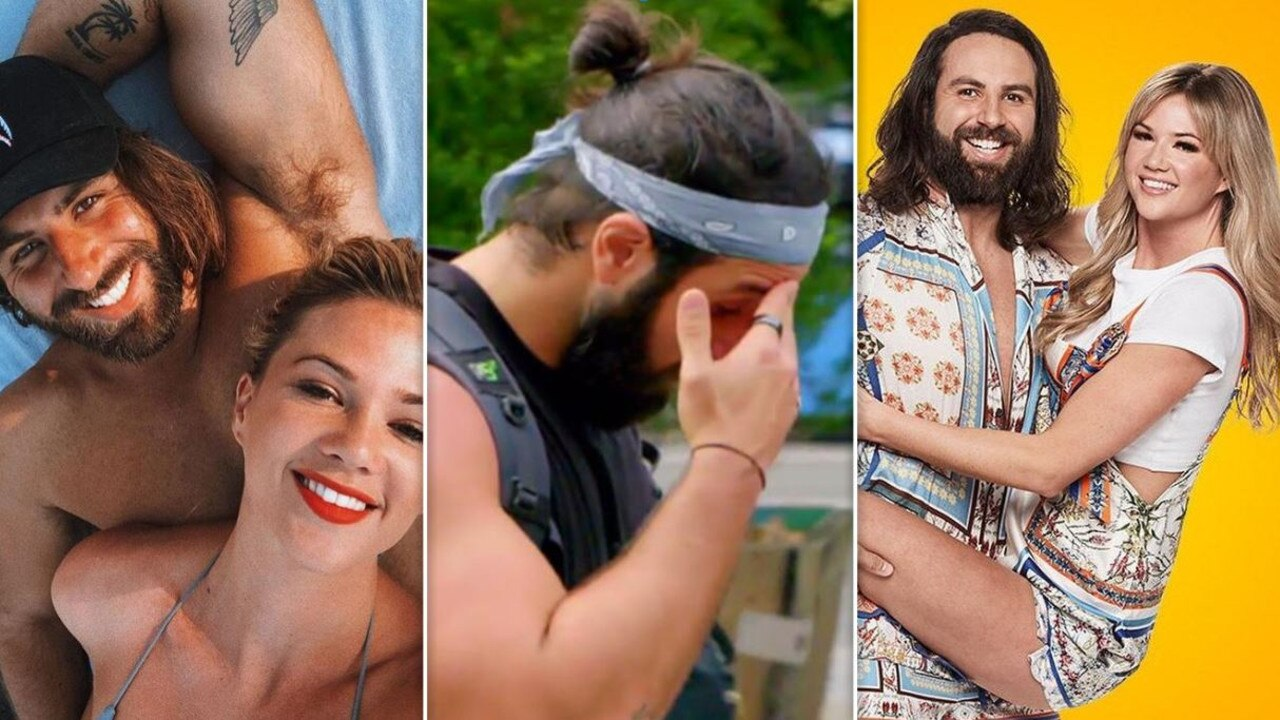 The Amazing Race revival has been rocked by allegations of domestic violence with police taking out an AVO against Sidney Pierucci on behalf of Ashley Ruscoe.