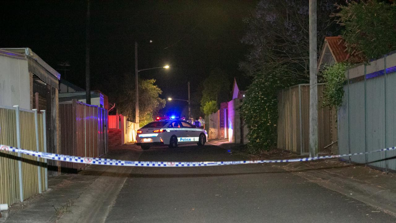 Police established a crime scene on McPherson Lane, Carlton.