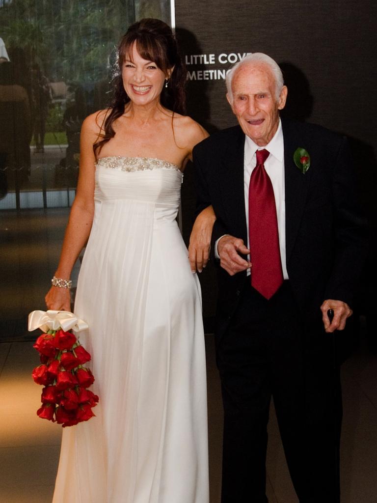 LOVE AND MEMORIES: Val Schmidt at the wedding of his daughter Vanessa Schmidt in 2010.